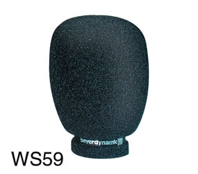 BEYERDYNAMIC WS 59 WINDSHIELD Foam for M59, M69 microphone, grey