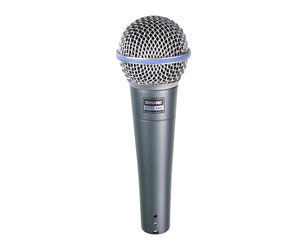 SHURE BETA 58A MICROPHONE Vocal dynamic, supercardioid