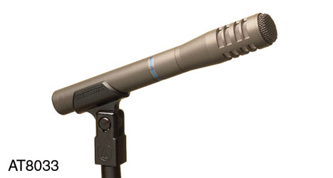 AUDIO TECHNICA AT8033 MICROPHONE ENG, interview, cardioid condenser, phantom/battery, LF filter