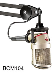 NEUMANN BCM-104 MICROPHONE Studio, large-diaphragm condenser, cardioid, integrated suspension