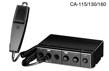 TOA CA-130 MOBILE MIXER AMPLIFIER 30W/4, 30W/8, 12V DC, with microphone