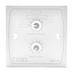 CLOUD RSL-6W REMOTE CONTROL PLATE Level and source, white