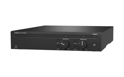 LAB GRUPPEN CA602 POWER AMPLIFIER Class D, 2x 60W, 70/100V/Low-Z, GPI remote connection, 1U