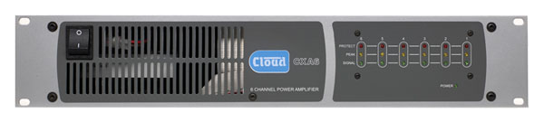 CLOUD CXA6 POWER AMPLIFIER 6x 120W/4, XLR balanced inputs, binding posts out, rackmount 2U