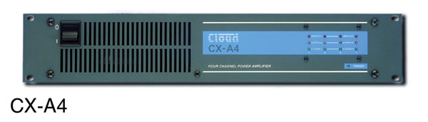 CLOUD CX-A4 POWER AMPLIFIER 4x 120W/4, XLR balanced inputs, binding posts out, rackmount 2U