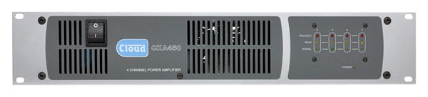 CLOUD CX-A450 POWER AMPLIFIER 4x 50W/4, balanced in, 2-part terminals in/out, rackmount 2U