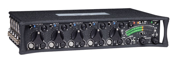 SOUND DEVICES 552 MIXER WITH PORTABLE RECORDER SD card, 5x mic/line in, direct, stereo, AES outs