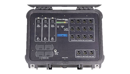 PSC PRESS BRIDGE CONFERENCE SPLITTER Audio, 2x microphone, 1x line in, 12x XLR out, -40dBu