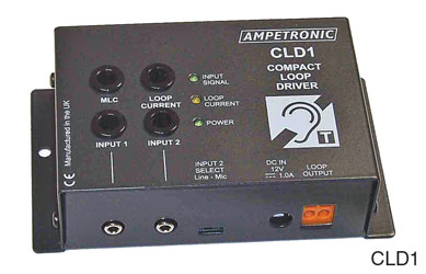 AMPETRONIC CLD1-CB LOOP DRIVER Compact, DC power, with boundary microphone, with loop