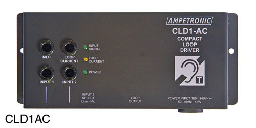 AMPETRONIC CLD1AC-CX LOOP DRIVER Compact, AC power, no microphone, with loop