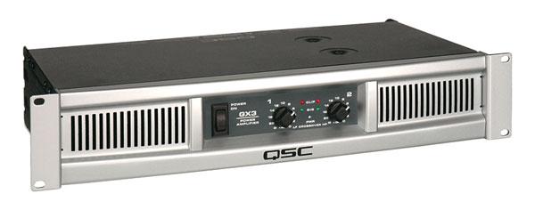 qsc gx3 power amplifier 2x 425w 4 crossover balanced inputs speakon binding posts out 2u. Black Bedroom Furniture Sets. Home Design Ideas