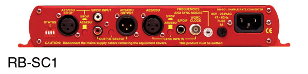 SONIFEX RB-SC1 SAMPLE RATE CONVERTER AES/EBU or SPDIF in and out, word clock in