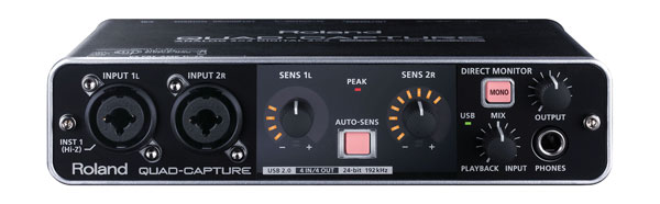 roland ua 55 quad capture usb audio interface 2x mic instrument in s pdif midi i o phantom. Black Bedroom Furniture Sets. Home Design Ideas