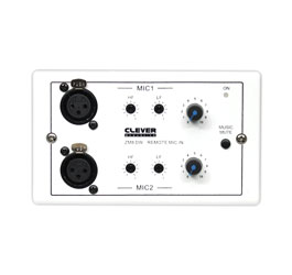 CLEVER ACOUSTICS ZM8 DW REMOTE CONTROL PLATE 2x remote microphone inputs, music mute