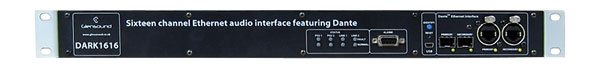 GLENSOUND DARK1616 DANTE INTERFACE 16 in, 16 out, balanced line-level and AES audio