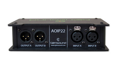GLENSOUND AOIP22 AUDIO INTERFACE Bi-directional, 2-channel, Dante enabled