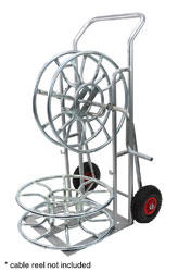 CANFORD ECONOMY VERSION SKELETON CABLE REEL TROLLEY, steel, powder coated