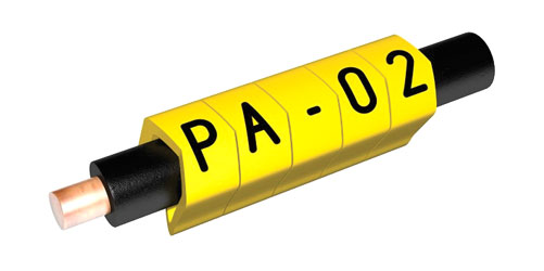 PARTEX CABLE MARKERS PA02-500CBY.5 Prefit, 1.3 - 3.0mm, number 5, black on yellow (reel of 500)