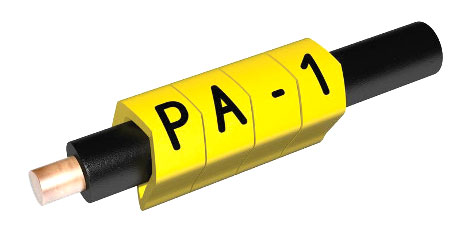 PARTEX CABLE MARKERS PA1-MBY.2 Prefit, 2.5 - 5.0mm, number 2, black on yellow (pack of 1000)