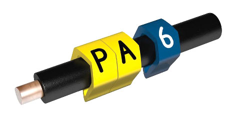 PARTEX CABLE MARKERS PA02-250CC.6 Prefit, 1.3 - 3.0mm, number 6, blue (pack of 250)