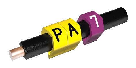 PARTEX CABLE MARKERS PA1-MCC.7 Prefit, 2.5 - 5.0mm, number 7, violet (pack of 1000)