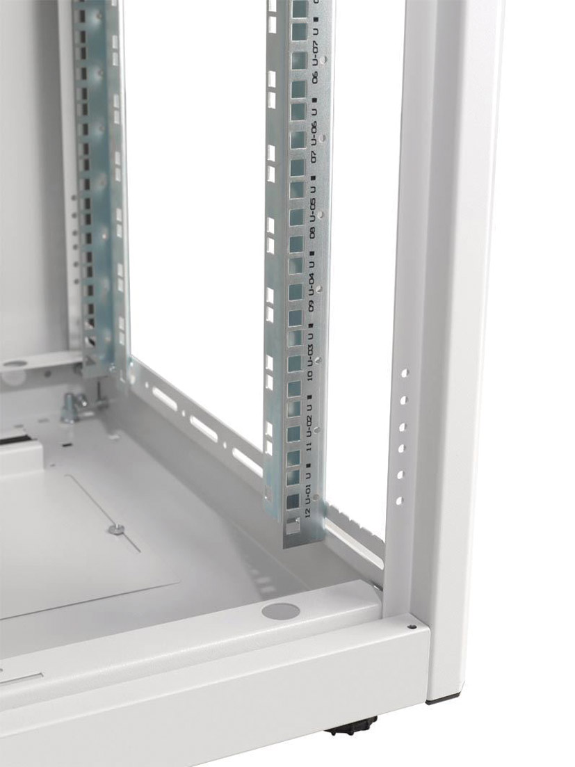 Enclosure systems 3626616 b l rack cabinet 16u 600 wide for 12 inch wide floor cabinet
