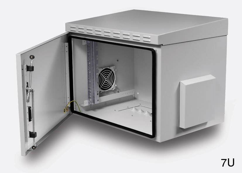 ENCLOSURE SYSTEMS 4556009/G-L WALL RACK CABINET IP55, 9U, 600d ...