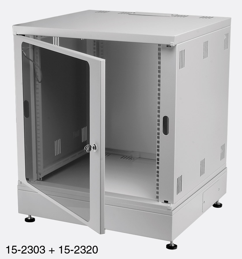 ENCLOSURE SYSTEMS 4345524/G RACK CABINET 24U Grey
