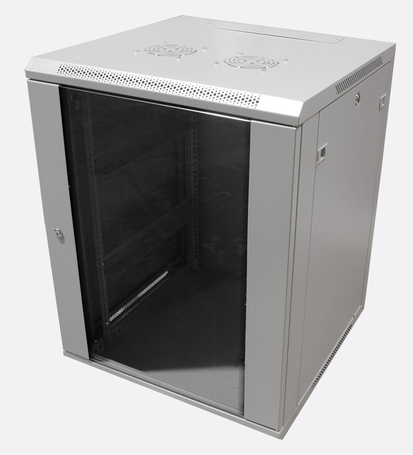 Enclosure systems 4084518 g t wall rack cabinet 18u 450d for 19 inch rack door