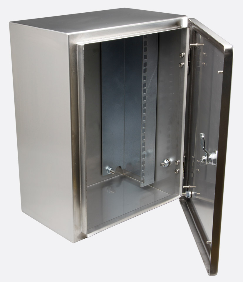 canford es46663512 sm wall cabinet ip66 12u full rack 300d profiles 50mm deep ss 316l. Black Bedroom Furniture Sets. Home Design Ideas