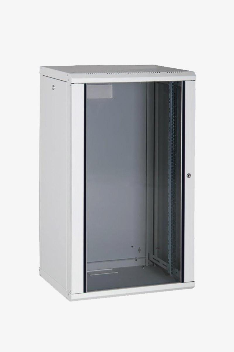 CANFORD PROLINE PR16U6045-LG WALL RACK CABINET 16U, 450d, with glass door,  grey