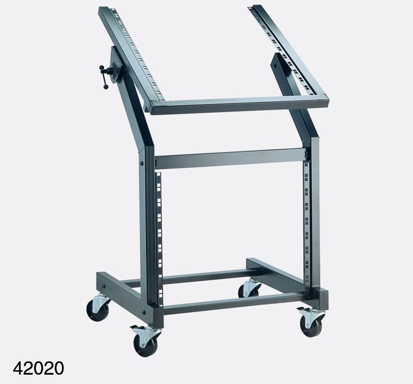 KM 42020 RACK TROLLEY Adjustable 12U Upper 9U Lower Black
