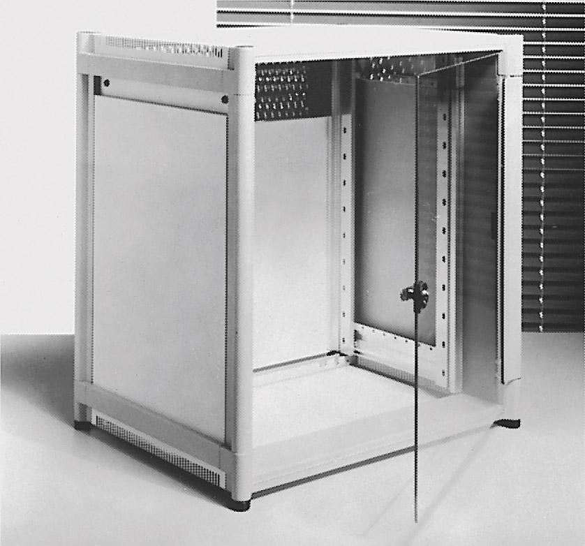 KNURR DOUBLEPRORACK Aluminium extruded frame, 500mm deep, 24U, with on