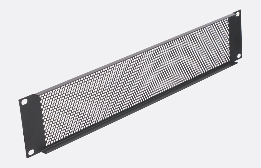 3u 19 inch Perforated Vent Rack Panel