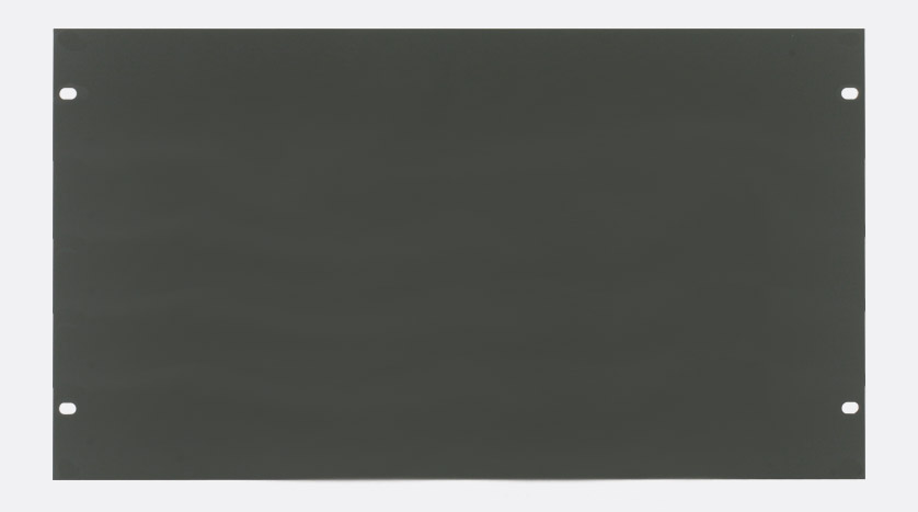 White Aluminium Panel : Canford rack panel blank full width u flat aluminium dark grey