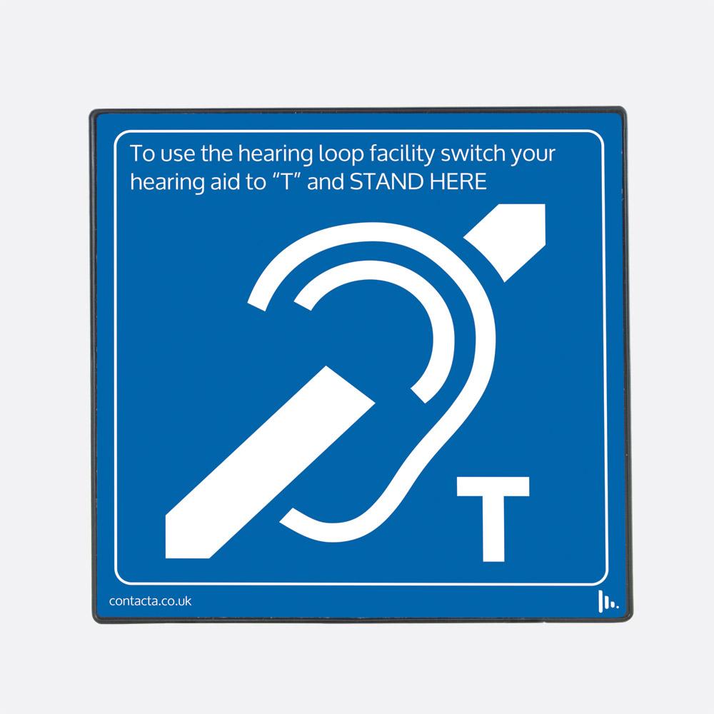 Contacta Il Ae97 00 Superloop Aerial Hearing Loop Sign Blue