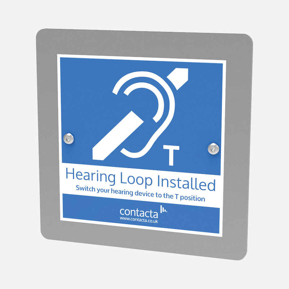 CONTACTA IL-EL42-PF HEARING LOOP Automatic gain control, constant-current,  flush wall mount