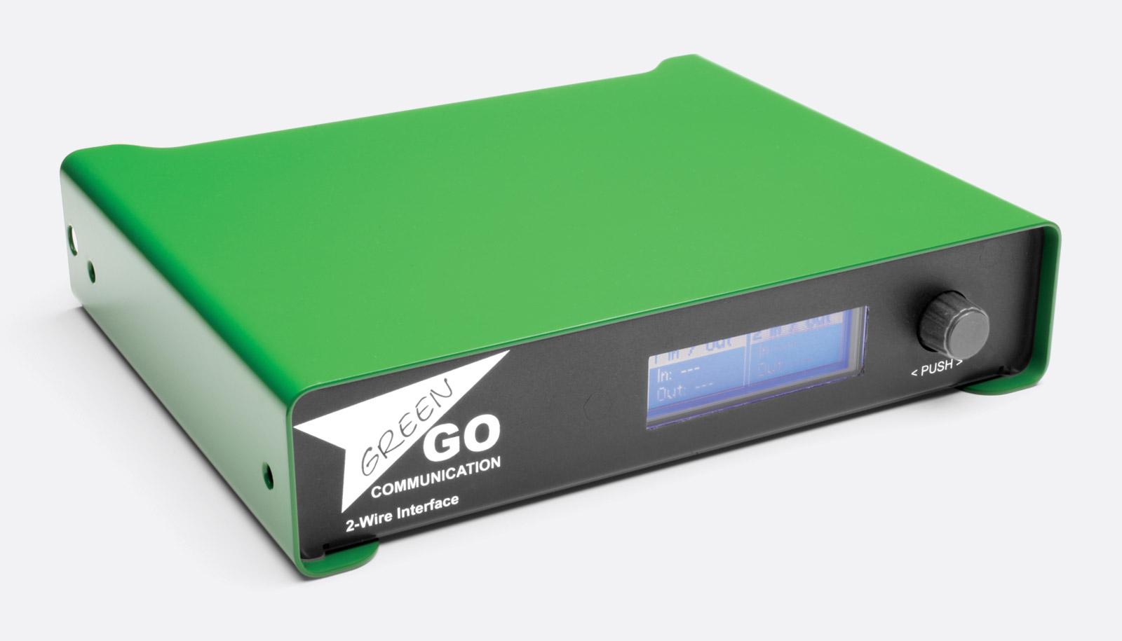 GREEN-GO GGO-2W DIGITAL INTERFACE 4-wire to 2-wire (analogue partyline), 2 -channel
