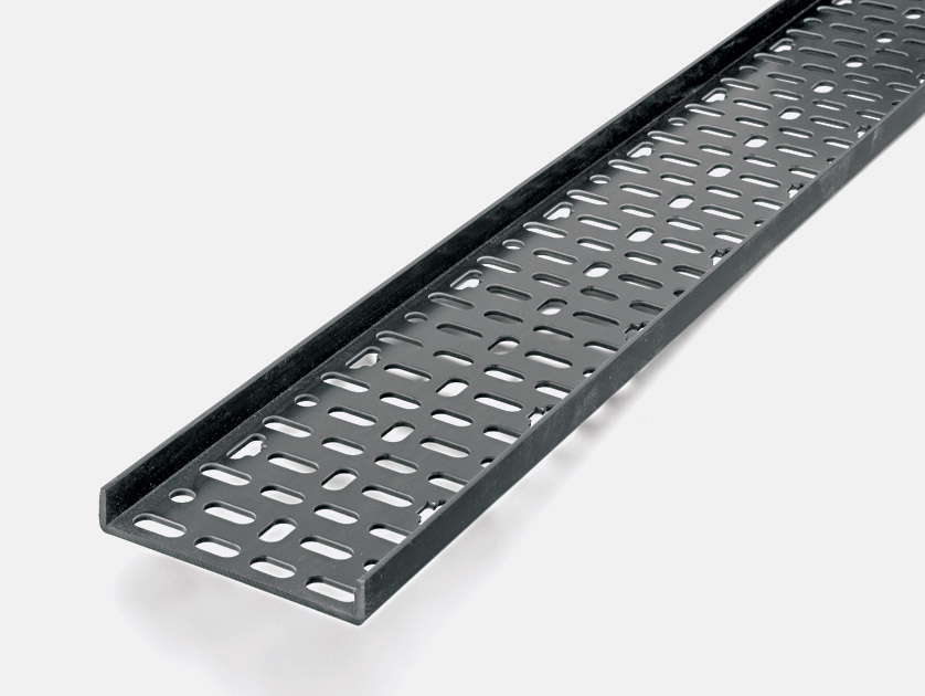 Pvc Cable Tray : Canford plastic cable tray mm metre length black
