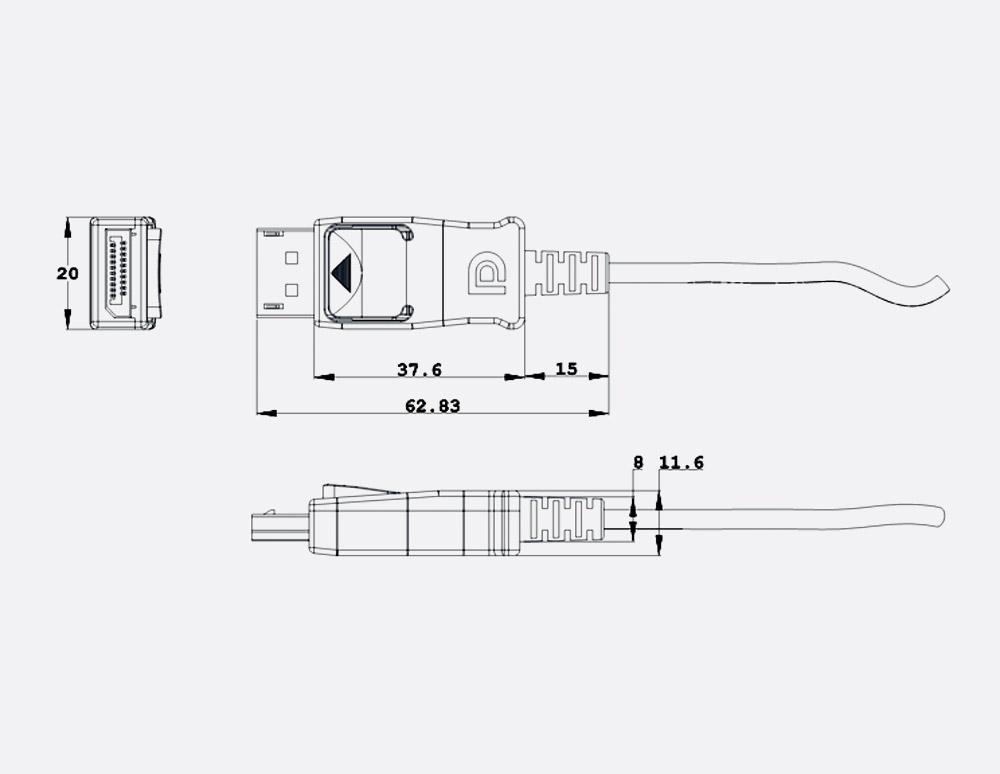 Sensational Lusem Oxlinx Ldp Nl15 Active Optical Cable Displayport 1 2A 15 Metres Wiring Database Cominyuccorg