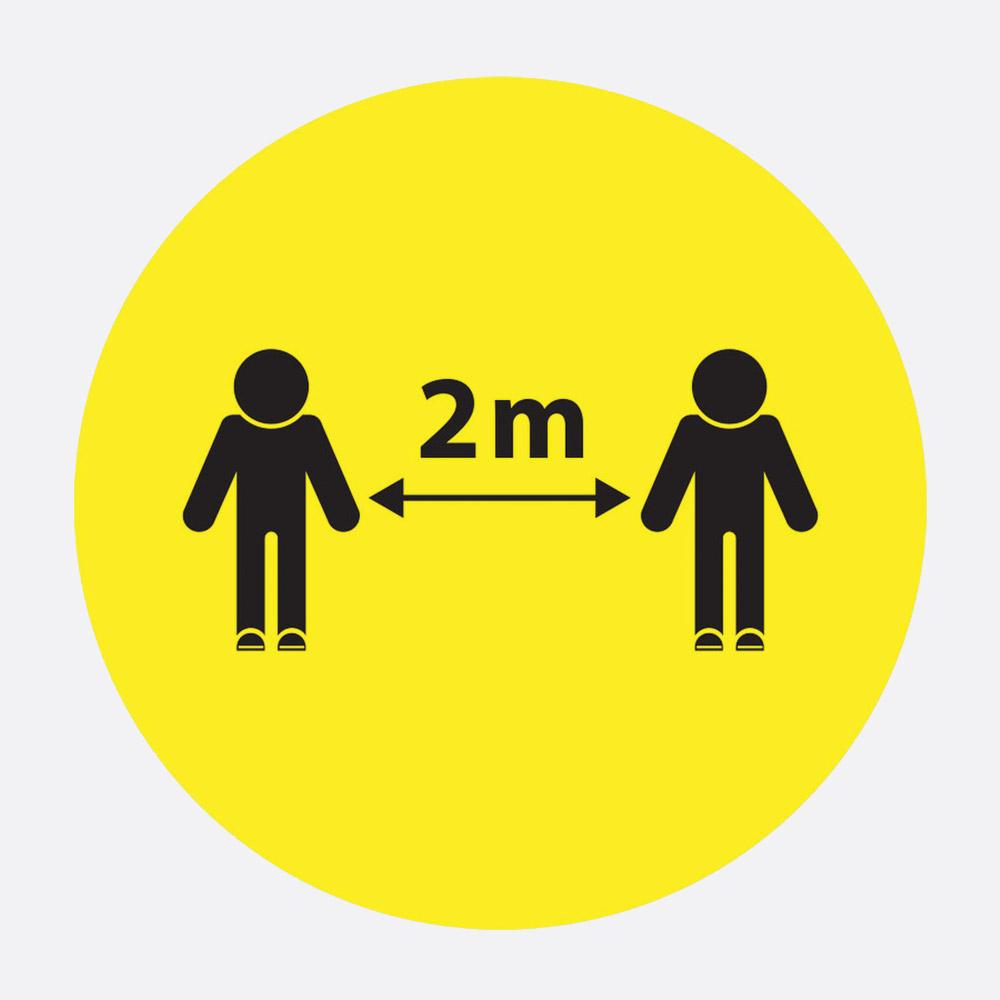 SOCIAL DISTANCING FLOOR STICKER People 2m apart graphics ...