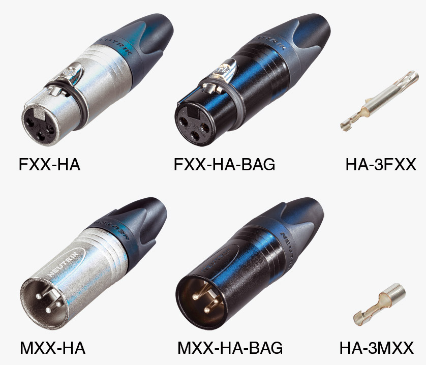 NEUTRIK XLR CABLE CONNECTORS - XX-HA series - Crimp - Canford