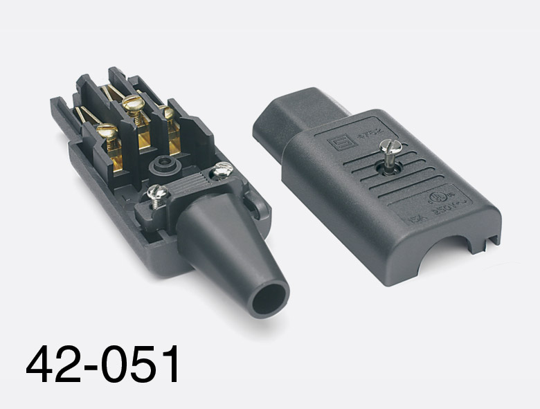 50 Amp Wire Size >> SCHURTER IEC MAINS CONNECTOR, C13 type, female, cable