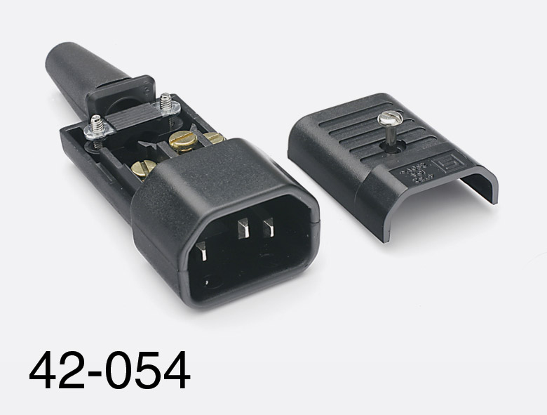 Power Cord Connector Types : Schurter iec mains connector e type male cable