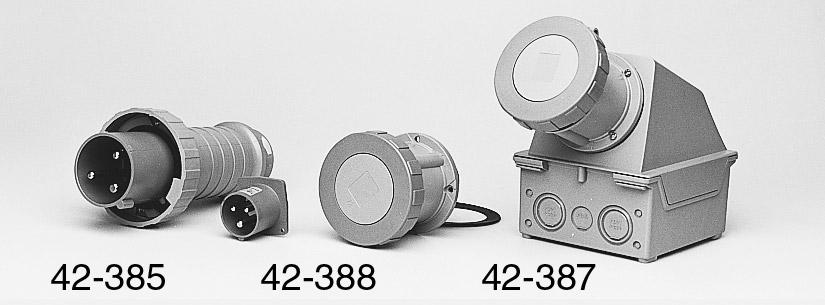 MK 9857BLU Waterproof 63A surface mounting angled socket ...