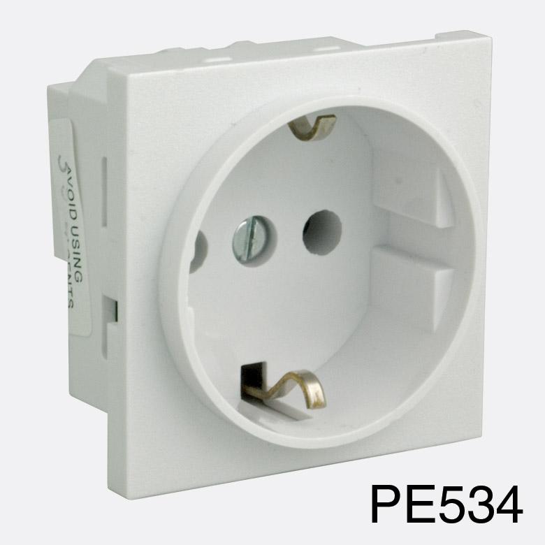 Rpp Easyclip Module Pe534 16a Schuko Socket Full Module