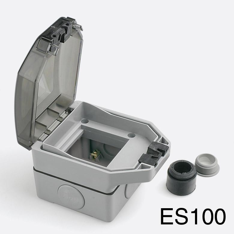 rpp easyclip weatherproof box es100 1 gang full module grey