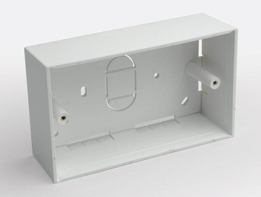 Plastic Surface Box 2 Gang 45mm Deep
