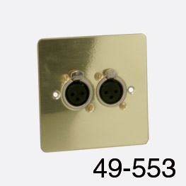 Plc lighting polished brass 3 wire connection Wire Unwelded Autosvit Bathroom Design Modern Canford Connector Plate Uk 1gang 2x Xlr Female Polished Brass