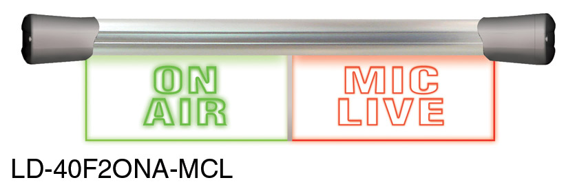 SONIFEX LD-40F2ONA-MCL ILLUMINATED SIGN On Air, Mic Live, LED, twin, flush  mount, 2x 200mm